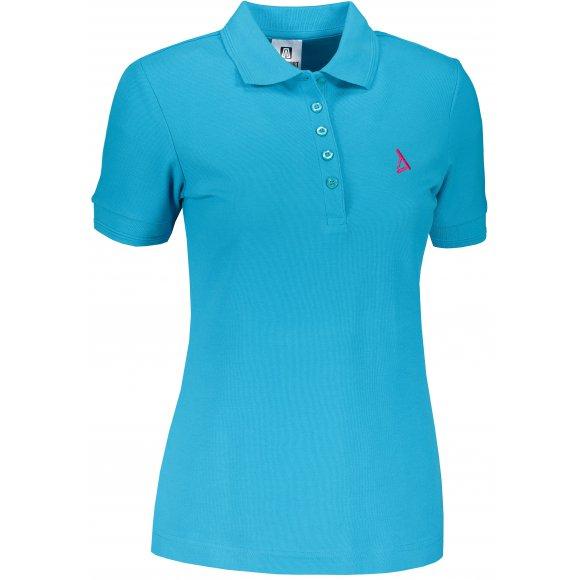Dámské premium triko s límečkem ALTISPORT ALW002210 TYRKYSOVÁ