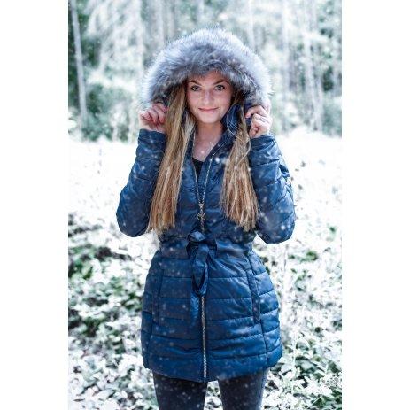 Dámský kabát KIXMI MELINDA TMAVĚ MODRÁ