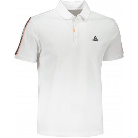Pánské triko s límečkem PEAK POLO T SHIRT FW612073 WHITE