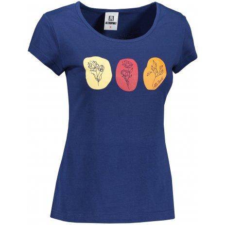 Dámské triko ALTISPORT ALW119122 PŮLNOČNÍ MODRÁ