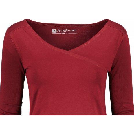 Dámské tričko ALTISPORT MANBA LSHU022 TMAVĚ ČERVENÁ