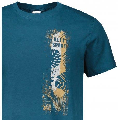 Pánské triko ALTISPORT ALM118129 PETROLEJOVÁ