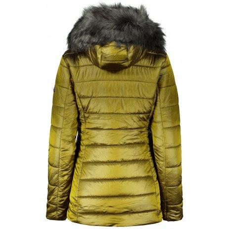 Dámská zimní bunda KIXMI MELODY zelenožlutá
