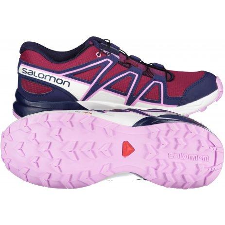 Dětské běžecké boty SALOMON SPEEDCROSS J L41288800 FIALOVÁ/MODRÁ