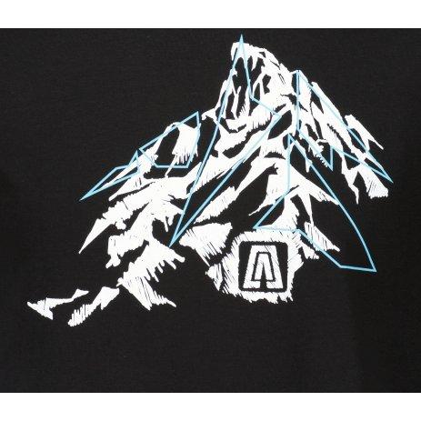 Pánské triko ALTISPORT ALM115129 ČERNOBÍLÁ