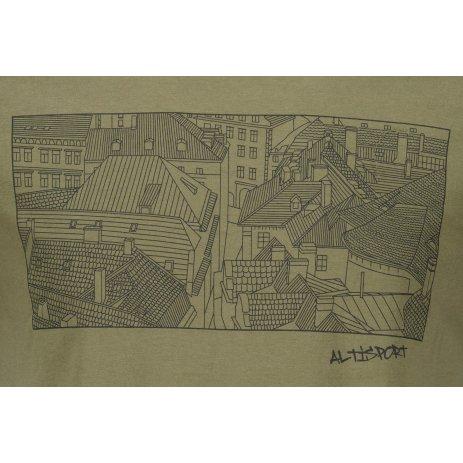 Pánské triko ALTISPORT ALM120129 KHAKI