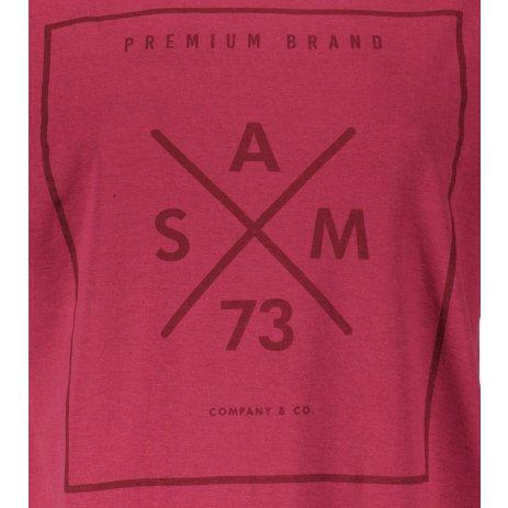 Dámské triko s krátkým rukávem SAM 73  TANYA WT 826 TMAVĚ RŮŽOVÁ
