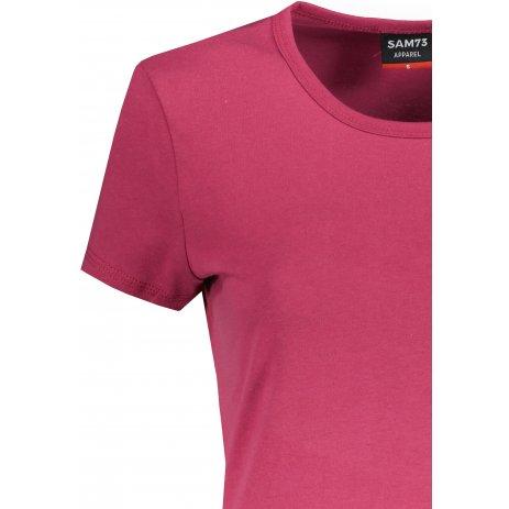 Dámské triko s krátkým rukávem SAM 73  DAVINA WT 827 TMAVĚ RŮŽOVÁ