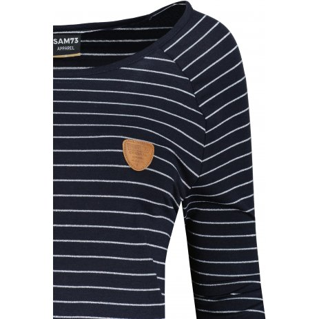 Dámské triko s dlouhým rukávem  SAM 73  PAULA WT 836 TMAVĚ MODRÁ