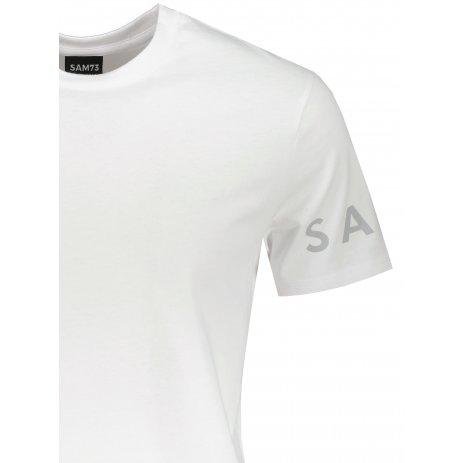 Pánské triko s krátkým rukávem SAM 73  MATTHEW MT 779 BÍLÁ