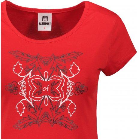 Dámské triko ALTISPORT ALW125122 ČERVENÁ