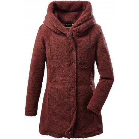 Dámský kabát KILLTEC GW 96 WMN KNTFLC PRK 37795 TMAVĚ RŮŽOVÁ