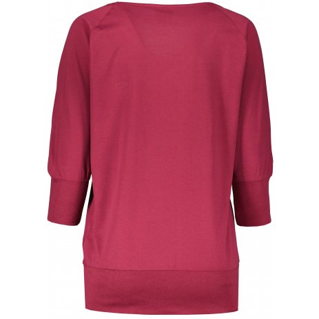 Dámské triko s dlouhým rukávem  SAM 73  ELENA WT 831 TMAVĚ RŮŽOVÁ