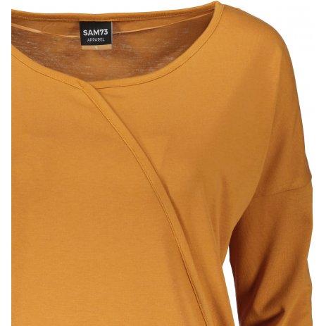 Dámské triko s dlouhým rukávem  SAM 73  SANDRA WT 830 TMAVĚ OKROVÁ