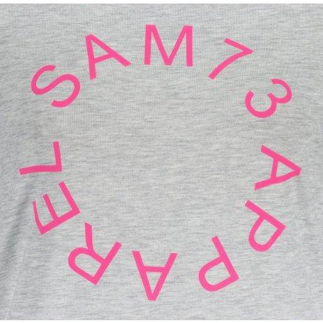 Dámské triko s krátkým rukávem SAM 73  ARIAS WT 825 SVĚTLE ŠEDÁ