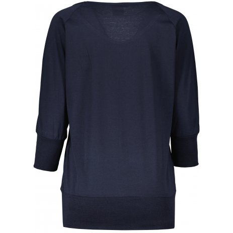 Dámské triko s dlouhým rukávem  SAM 73  ELENA WT 831 TMAVĚ MODRÁ