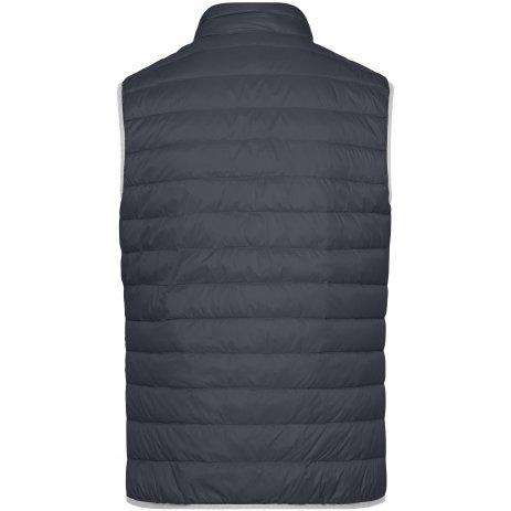 Pánská péřová vesta JAMES NICHOLSON JN1138 GRAPHITE/SILVER