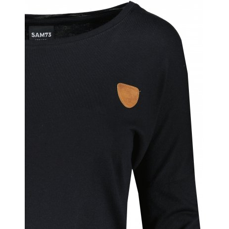 Dámské triko s dlouhým rukávem  SAM 73  HELEN WT 837 ČERNÁ