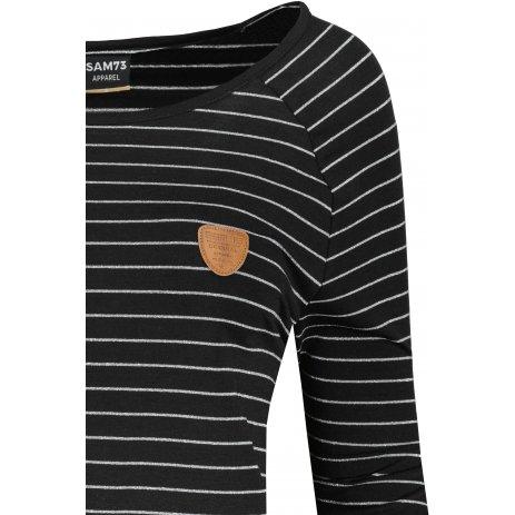 Dámské triko s dlouhým rukávem  SAM 73  PAULA WT 836 ČERNÁ