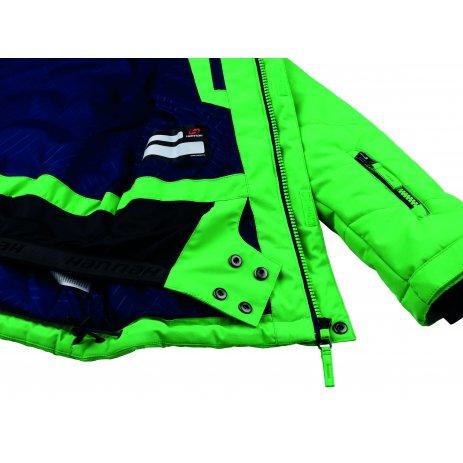 Chlapecká zimní bunda HANNAH KINAM JR II CLASSIC GREEN/ESTATE MEL