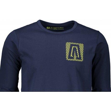 Chlapecké triko ALTISPORT CESC MTSS566 TMAVĚ MODRÁ