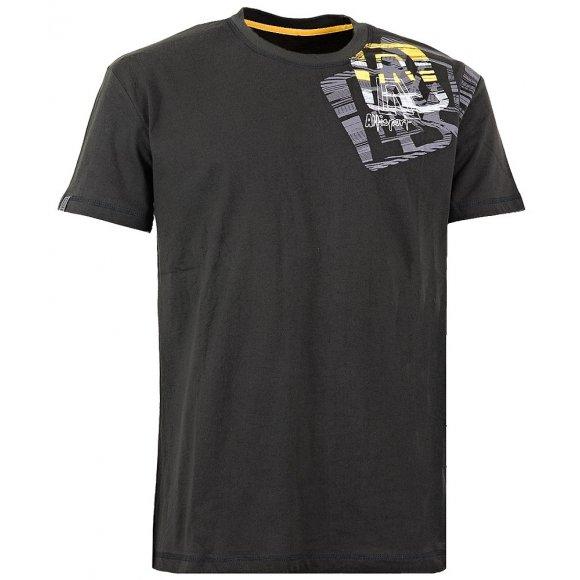 Chlapecké triko s krátkým rukávem ALTISPORT LEIZE-J ALJW15066 ČERNÁ