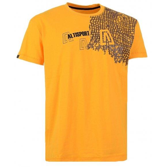 Chlapecké triko s krátkým rukávem ALTISPORT JEINU-J ALJW15065 ŽLUTÁ