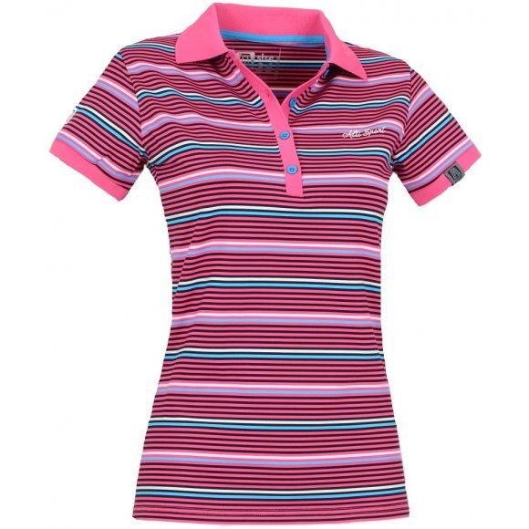 Dámské triko s límečkem ALTISPORT STORA ALMS14041 RŮŽOVÁ