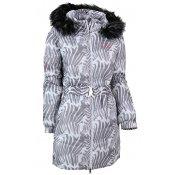 Dámský zimní kabát ALTISPORT OLLIE ALLW15006 BÍLÁ POTISK