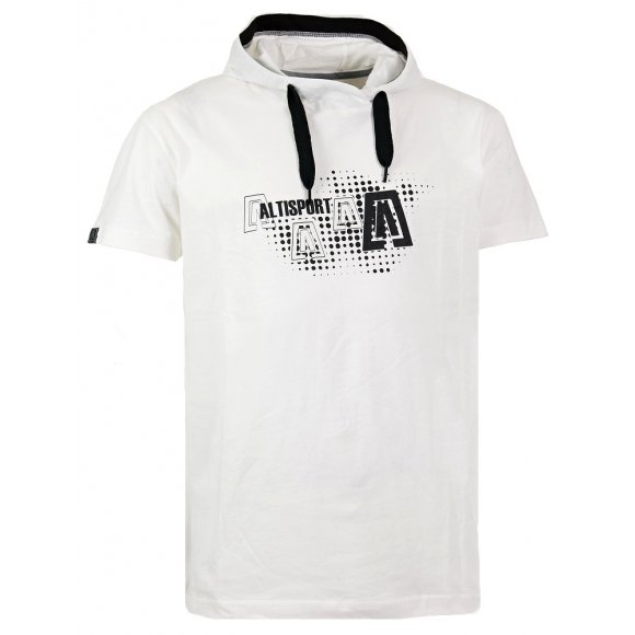Chlapecké triko s krátkým rukávem ALTISPORT KIXMI-J ALJW15071 BÍLÁ