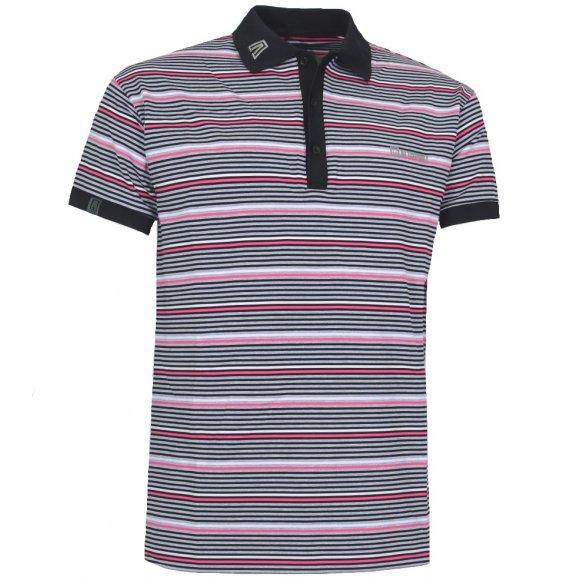 Pánské triko s límečkem ALTISPORT STORO ALMS14040 ČERNÁ