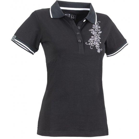 Dámské triko s límečkem ALTISPORT ETANA ALLS15020 ČERNÁ