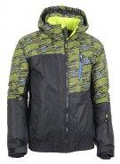 Pánská zimní bunda ALTISPORT ROWAN ALMW14001 ČERNOŽLUTÁ