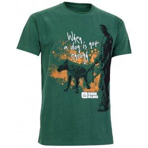Pánské tričko NORDBLANC HYENA NBSMT5094 ZELENÝ HORIZONT