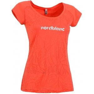 Dámské tričko NORDBLANC PALM NBSLT5123 ČERVENÝ KORÁL