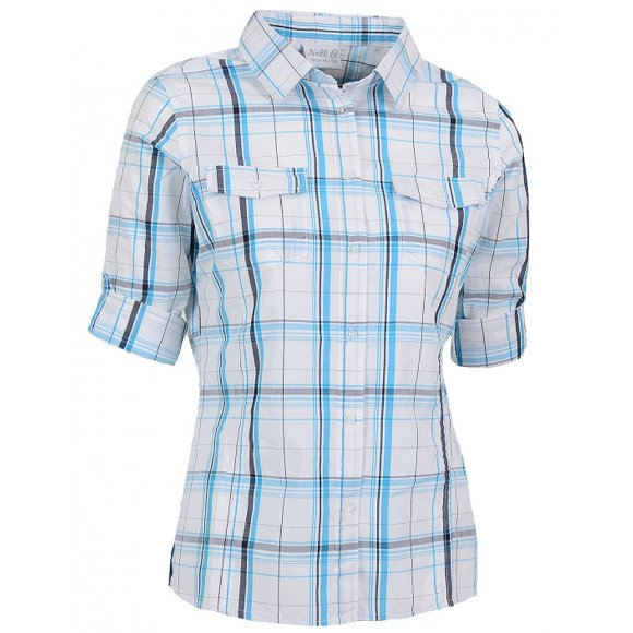Dámská košile 3/4 rukávem NELL W14051 BÍLOMODRÁ