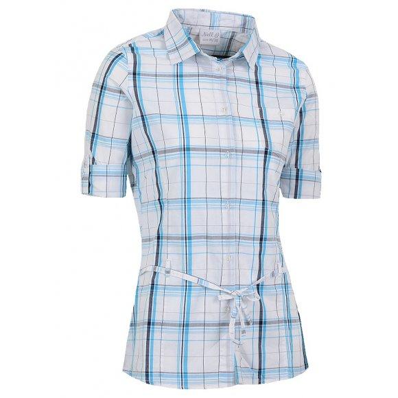 Dámská košile 3/4 rukáv NELL W14052 BÍLOMODRÁ