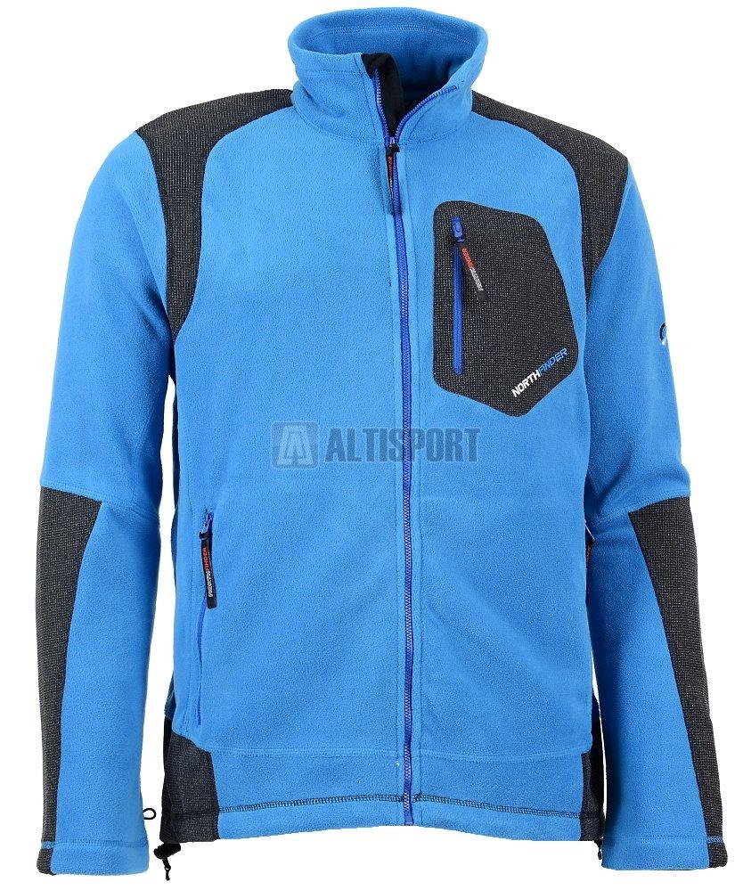 17ac5ddadd1 Pánská Fleece Mikina Northfinder Kyler Mi-3100Or Modrá Velikost  Xl ...